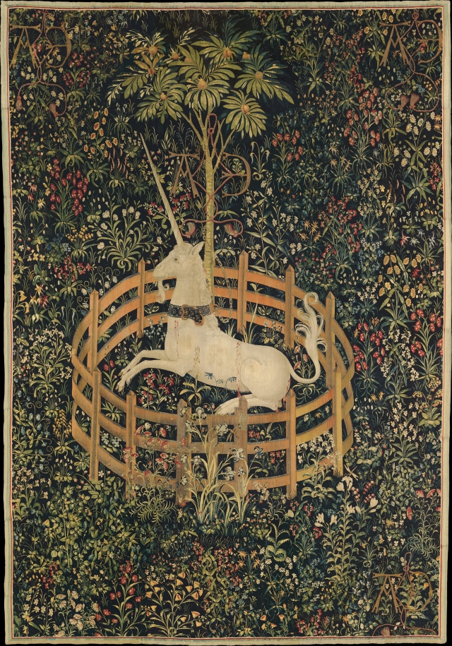 """The Unicorn in Captivity""-Tapestry, circa 1500"