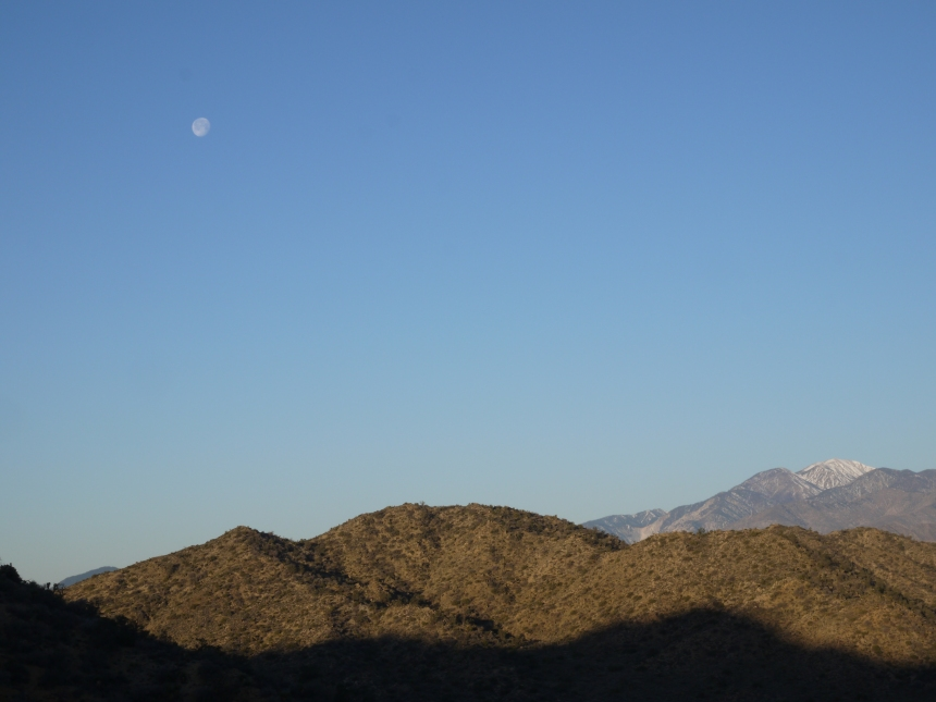 Be as solitary and quiet as the moon, when you hike.