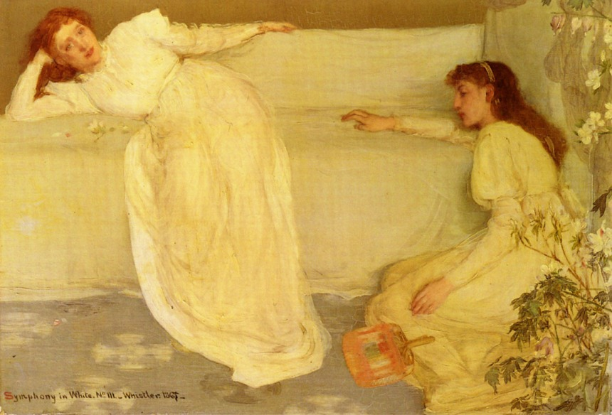 """James Whistler's """"Symphony in White."""" Or as I like to call it, """"The Magnetic Bed."""""""