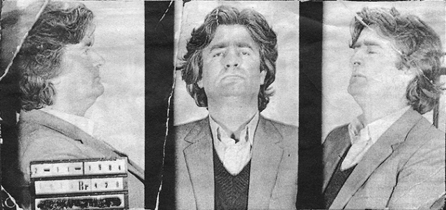 Bad Rad's mug shot from his arrest for fraud in 1984.