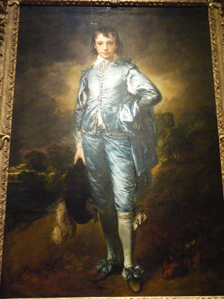 """The famous paintings, Blue Boy and Pinkie are ensconced at the Huntington. Blue Boy was painted in 1770 by Thomas Gainsborough. My wife, who was once an art student, tells me that the bright colors of this painting were unusual for the day. Many considered it ostentatious and even pornographic, and some wanted to tar and feather the poor artist. If only those prudes could be around these days to surf some of the """"art"""" you can find on the internet."""