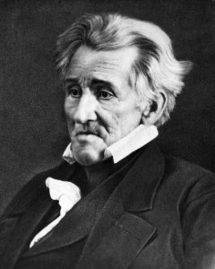 Daguerrotype of Andrew Jackson a few months before he died, in 1845, at age 78. Looks like all his hard living caught up with him.