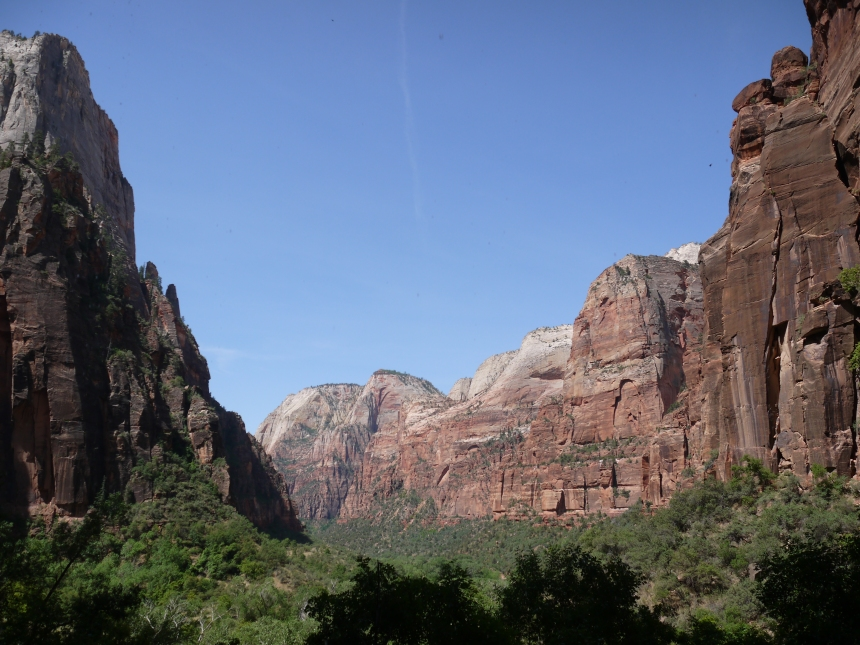 View of Zion Canyon, from Weeping Rock. Yep, plenty of unicorns to be found here.