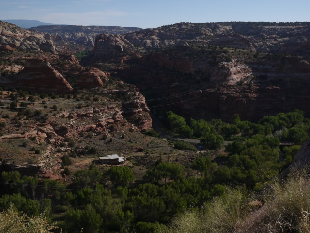 Few people seem to live in or near the Grand Staircase-Escalante National Monument. But here is one little settlement nestled within the rugged terrain.