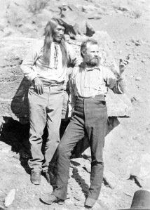 Powell with Paiute Indian named Tau-Gu, during his 1871 expedition.