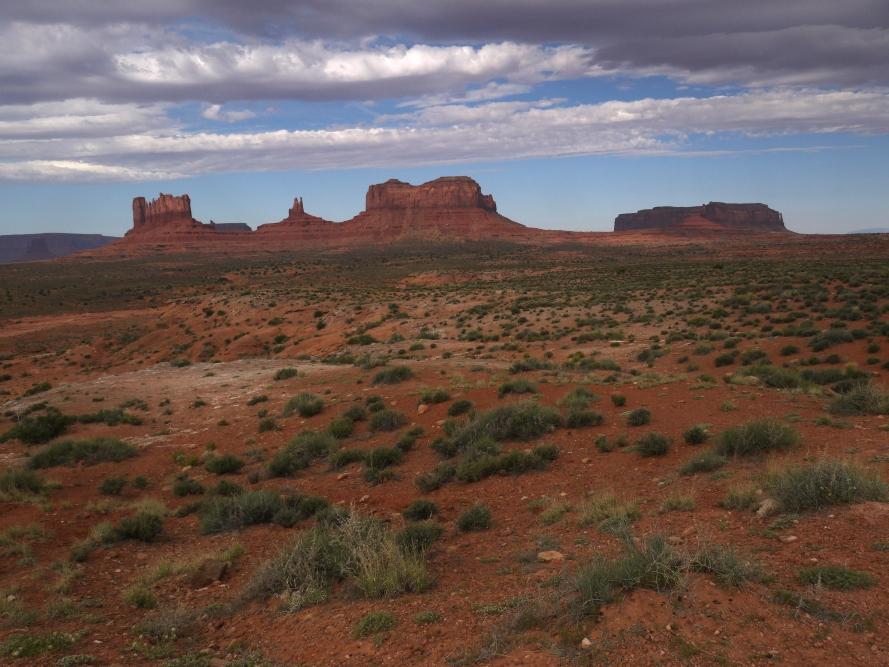 Monument Valley, Utah, in the Navajo Nation.  This small area has been featured in many photos and films that depict the West. Director John Ford often used this backdrop for quite a few of his famous western films.