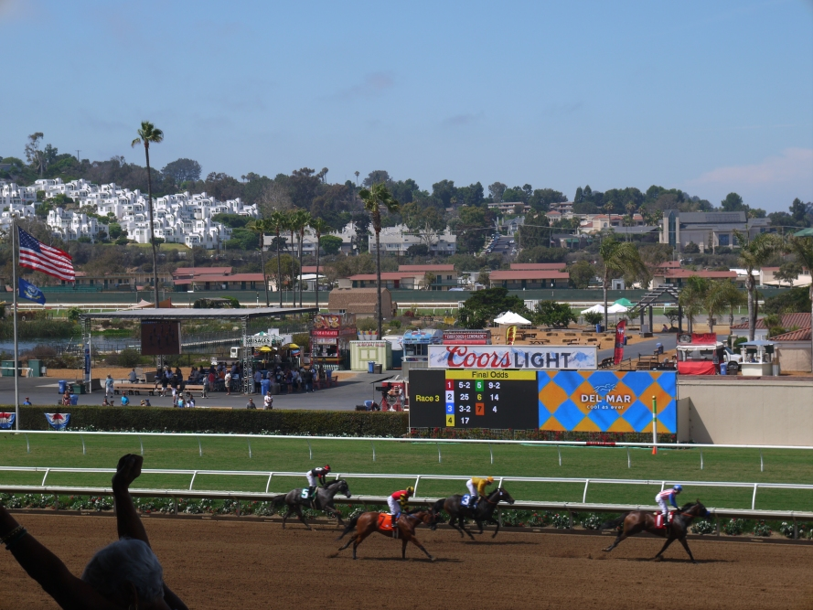 Finishes can be pretty exciting. Especially when the horse you bet on wins.