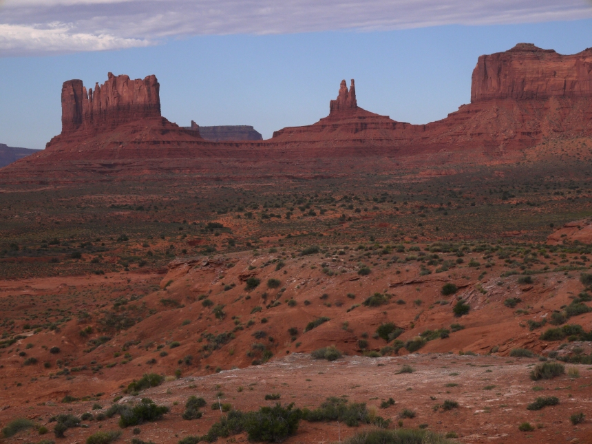 "Monument Valley, with the formation known as ""Rabbit Ears"" in the middle."