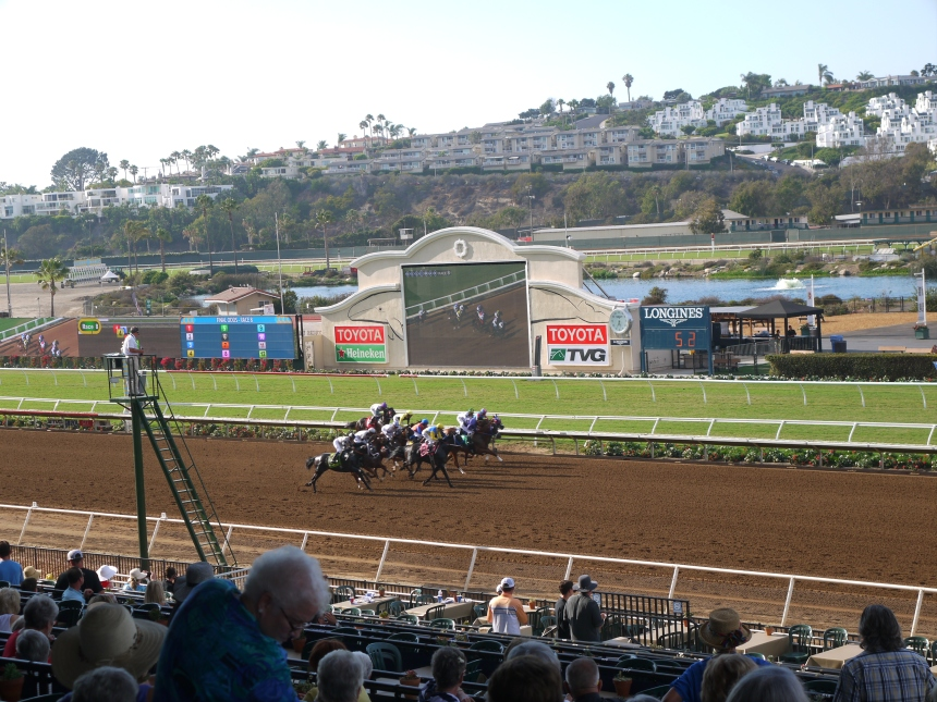 I think this was a photo finish. I hope the horses remembered to smile.