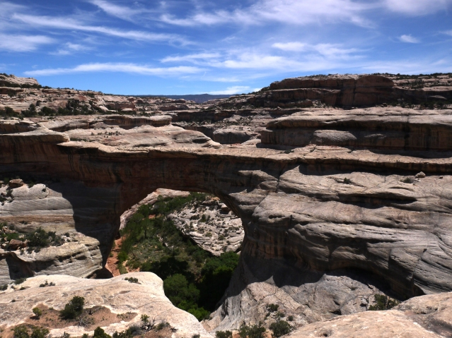 Sipapu Bridge, Natural Bridges National Monument, Utah. The closer you get to these bridges, the easier they are to see.