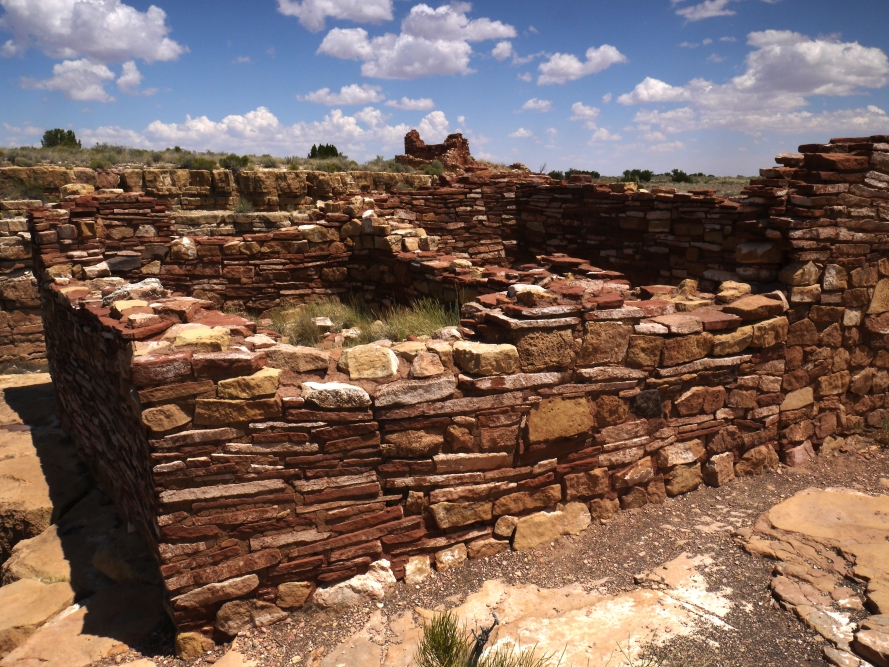 Box Canyon Pueblo, Wupatki National Monument. The rooms in these pueblos were used for sleeping and food storage. And perhaps by lazy people like me, seeking a place to hide from all that hard farm work.