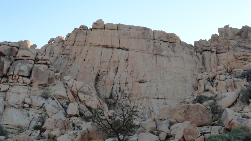 """This escarpment is called """"The Great Burrito"""" by rock-climbers. A few years ago a cragsman fell to his death at this very spot. Perhaps he should have opted to climb """"The Little Taquito"""" instead."""