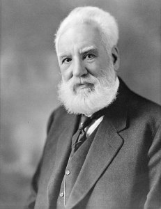 Alexander Graham Bell. The man who started this mess.