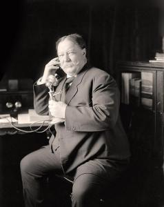 President William Howard Taft, trying to get his phone activated.