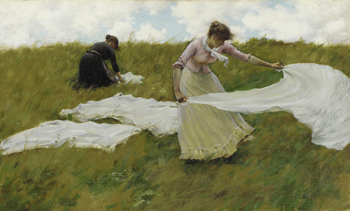 A Breezy Day. 1887. Charles Courtney Curran.